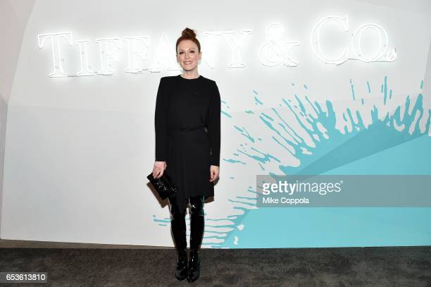 Actor Julianne Moore attends the Tiffany Co presents Whitney Biennial VIP Opening Night at The Whitney Museum of American Art on March 15 2017 in New...