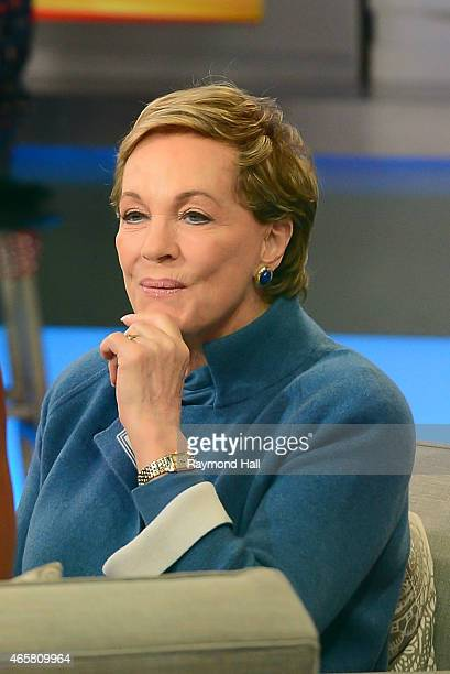 Actor Julie Andrews is seen on 'Good Morning America'on March 10 2015 in New York City