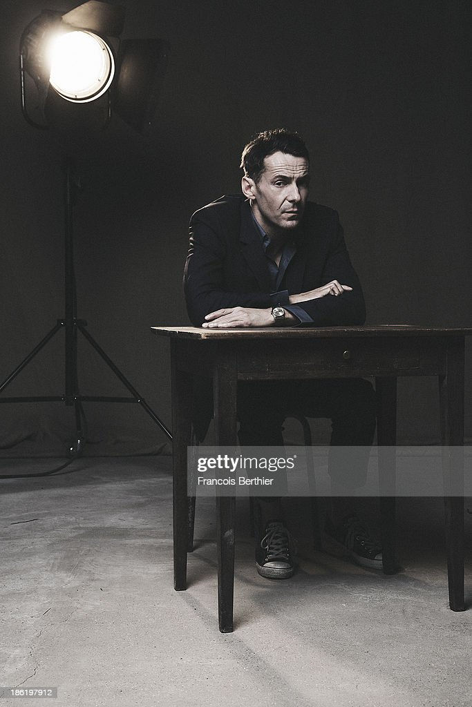 Actor Julien Boisselier is photographed for Self Assignment on October 15, 2013 in Paris, France.