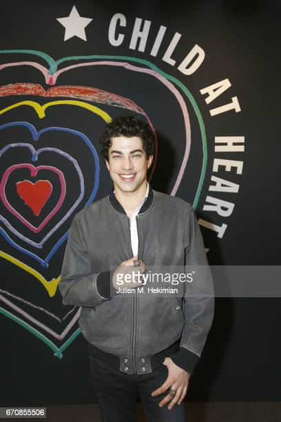 Actor Julien Landais attends Fashion For Relief 'Child At Heart' cocktail party on April 20 2017 in Paris France The 'Child At Heart' collection...
