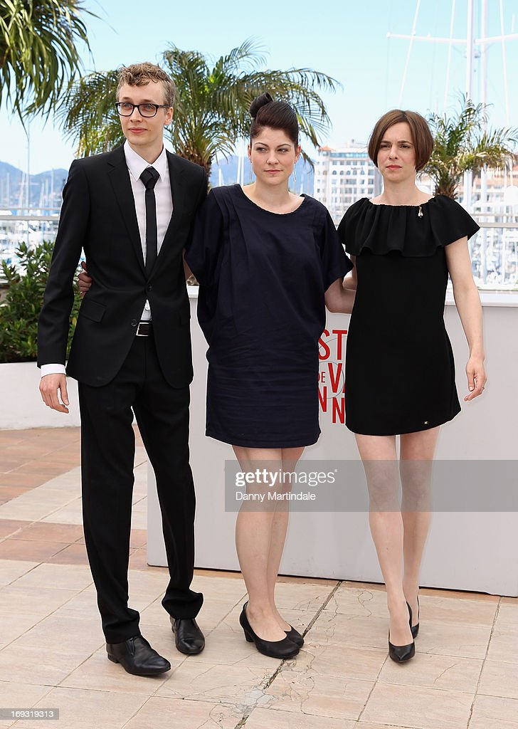 Actor Julius Feldmeier, director Katrin Gebbe and actress Annika Kuhl attend the photocall for 'Tore Tantz' at The 66th Annual Cannes Film Festival at Palais des Festival on May 23, 2013 in Cannes, France.