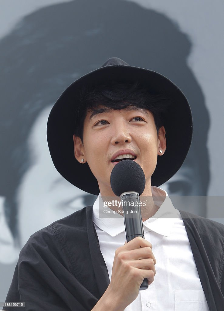 Actor Jung Kyung-Ho attends the Open Talk -Fasten Your Seatbelt- at Haeundae beach during the 18th Busan International Film Festival on October 5, 2013 in Busan, South Korea.