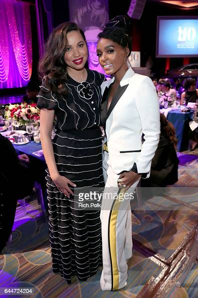 Actor Jurnee SmollettBell and honoree Janelle Monae at Essence Black Women in Hollywood Awards at the Beverly Wilshire Four Seasons Hotel on February...