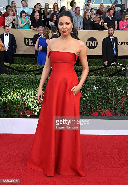 Actor Jurnee SmollettBell attends The 23rd Annual Screen Actors Guild Awards at The Shrine Auditorium on January 29 2017 in Los Angeles California...