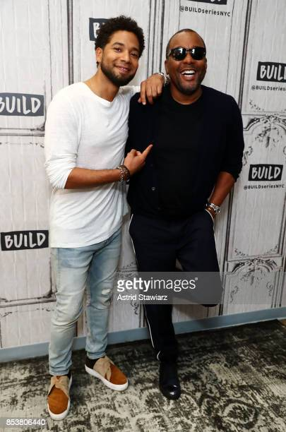 Actor Jussie Smollett and director Lee Daniels discuss their show 'Empire' at Build Studio on September 25 2017 in New York City