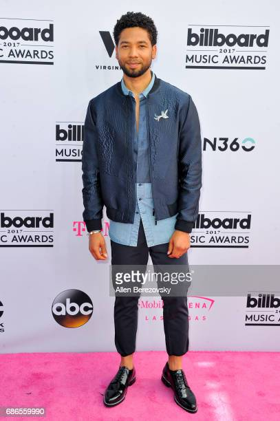 Actor Jussie Smollett arrives at 2017 Billboard Music Awards at TMobile Arena on May 21 2017 in Las Vegas Nevada