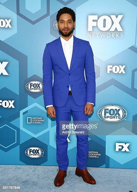 Actor Jussie Smollett attends FOX 2016 Upfront Arrivals at Wollman Rink Central Park on May 16 2016 in New York City