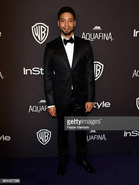 Actor Jussie Smollett attends InStyle and Warner Bros 73rd Annual Golden Globe Awards PostParty at The Beverly Hilton Hotel on January 10 2016 in...