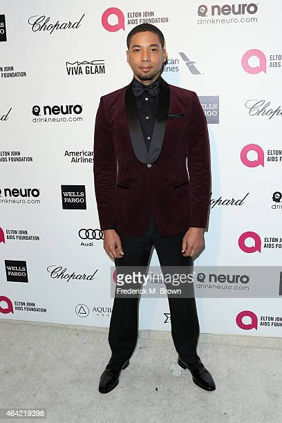 Actor Jussie Smollett attends the 23rd Annual Elton John AIDS Foundation's Oscar Viewing Party on February 22 2015 in West Hollywood California