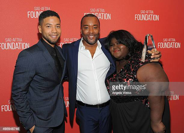 Actor Jussie Smollett honoree Lee Daniels and actress Gabourey Sidibe attend the Screen Actors Guild Foundation 30th Anniversary Celebration at...