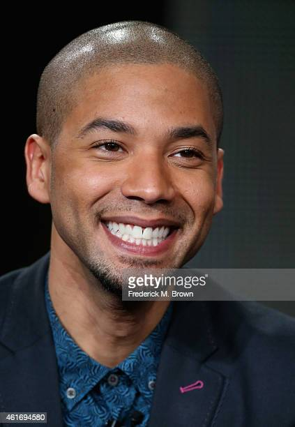 Actor Jussie Smollett speaks onstage during the 'Empire' panel discussion at the FOX portion of the 2015 Winter TCA Tour at the Langham Hotel on...