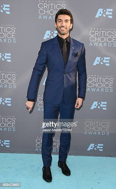 Actor Justin Baldoni attends the 21st Annual Critics' Choice Awards at Barker Hangar on January 17 2016 in Santa Monica California