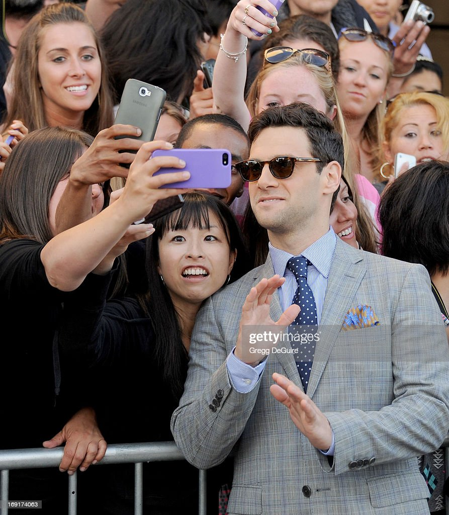 Actor <a gi-track='captionPersonalityLinkClicked' href=/galleries/search?phrase=Justin+Bartha&family=editorial&specificpeople=653334 ng-click='$event.stopPropagation()'>Justin Bartha</a> arrives at the Los Angeles premiere of 'The Hangover III' at Mann's Village Theatre on May 20, 2013 in Westwood, California.