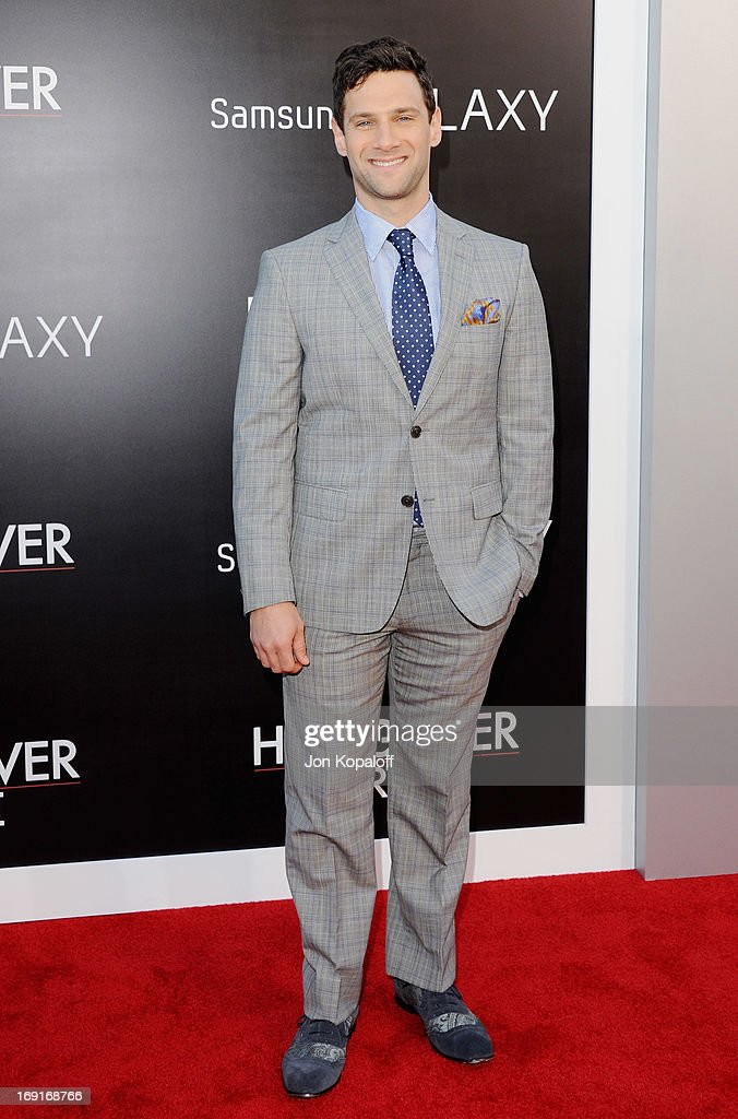 Actor <a gi-track='captionPersonalityLinkClicked' href=/galleries/search?phrase=Justin+Bartha&family=editorial&specificpeople=653334 ng-click='$event.stopPropagation()'>Justin Bartha</a> arrives at the Los Angeles Premiere 'The Hangover: Part III' at Westwood Village Theatre on May 20, 2013 in Westwood, California.