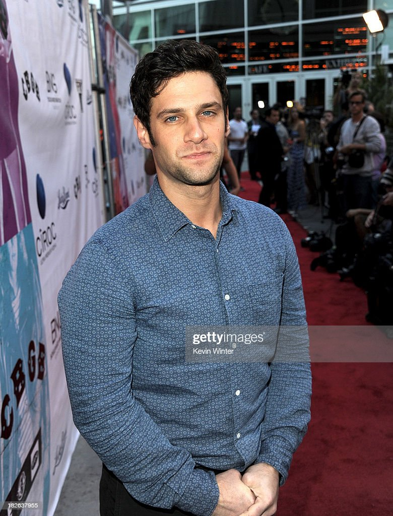 Actor <a gi-track='captionPersonalityLinkClicked' href=/galleries/search?phrase=Justin+Bartha&family=editorial&specificpeople=653334 ng-click='$event.stopPropagation()'>Justin Bartha</a> arrives at the screening of XLrator Media's 'CBGB' at the Arclight Theatre on October 1, 2013 in Los Angeles, California.