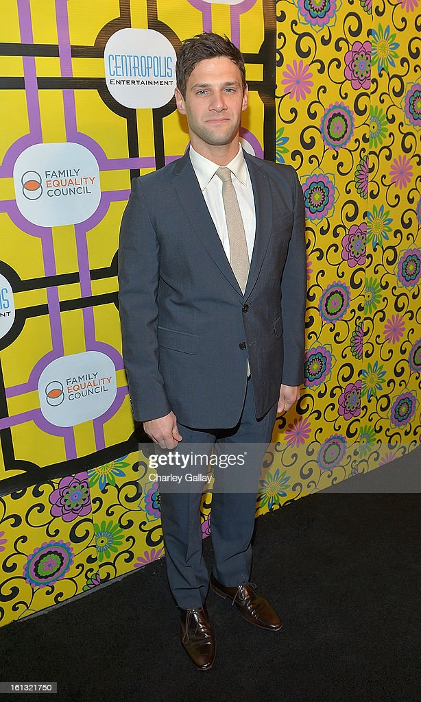 Actor <a gi-track='captionPersonalityLinkClicked' href=/galleries/search?phrase=Justin+Bartha&family=editorial&specificpeople=653334 ng-click='$event.stopPropagation()'>Justin Bartha</a> attends the Family Equality Council LA Awards Dinner at The Globe Theatre at Universal Studios on February 9, 2013 in Universal City, California.