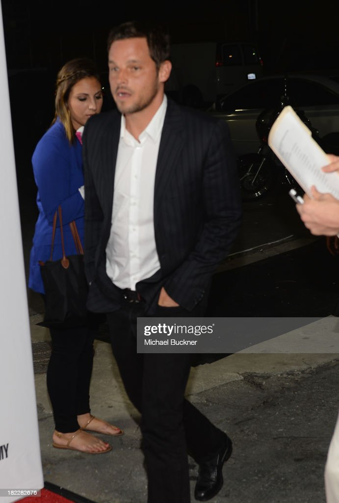 Actor Justin Chambers arrives at the 'Grey's Anatomy' 200th Episode Celebration at The Colony on September 28 2013 in Los Angeles California