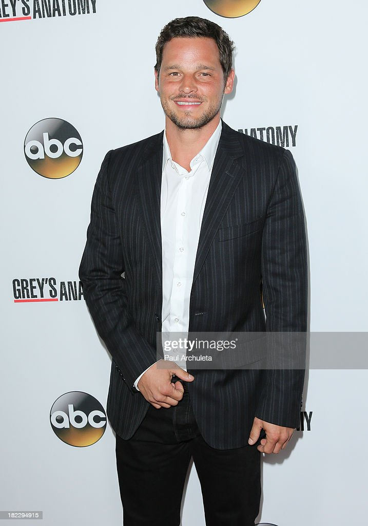 Actor Justin Chambers attends the 200th episode celebration of 'Grey's Anatomy' at The Colony on September 28 2013 in Los Angeles California
