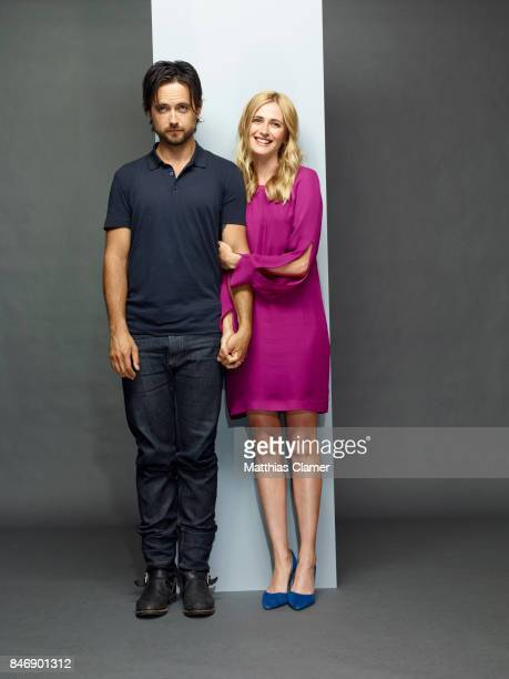 Actor Justin Chatwin and actress Megan Ketch from 'American Gothic' are photographed for Entertainment Weekly Magazine on July 21 2016 at Comic Con...