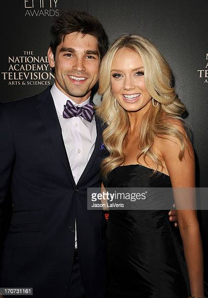 Actor Justin Gaston and actress Melissa Ordway attend the 40th annual Daytime Emmy Awards at The Beverly Hilton Hotel on June 16 2013 in Beverly...