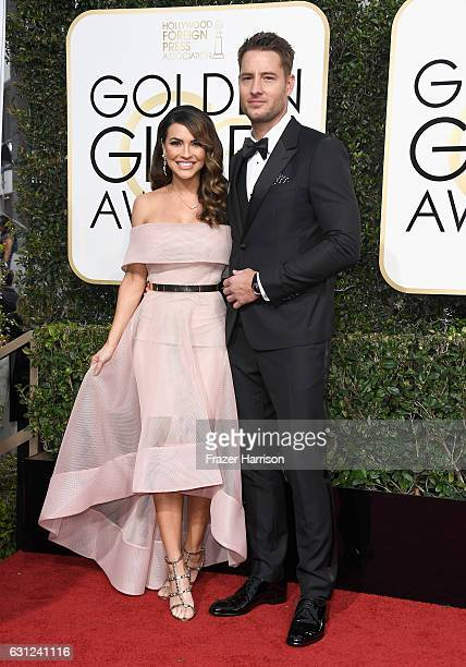 Actor Justin Hartley and Chrishell Stause attend the 74th Annual Golden Globe Awards at The Beverly Hilton Hotel on January 8 2017 in Beverly Hills...