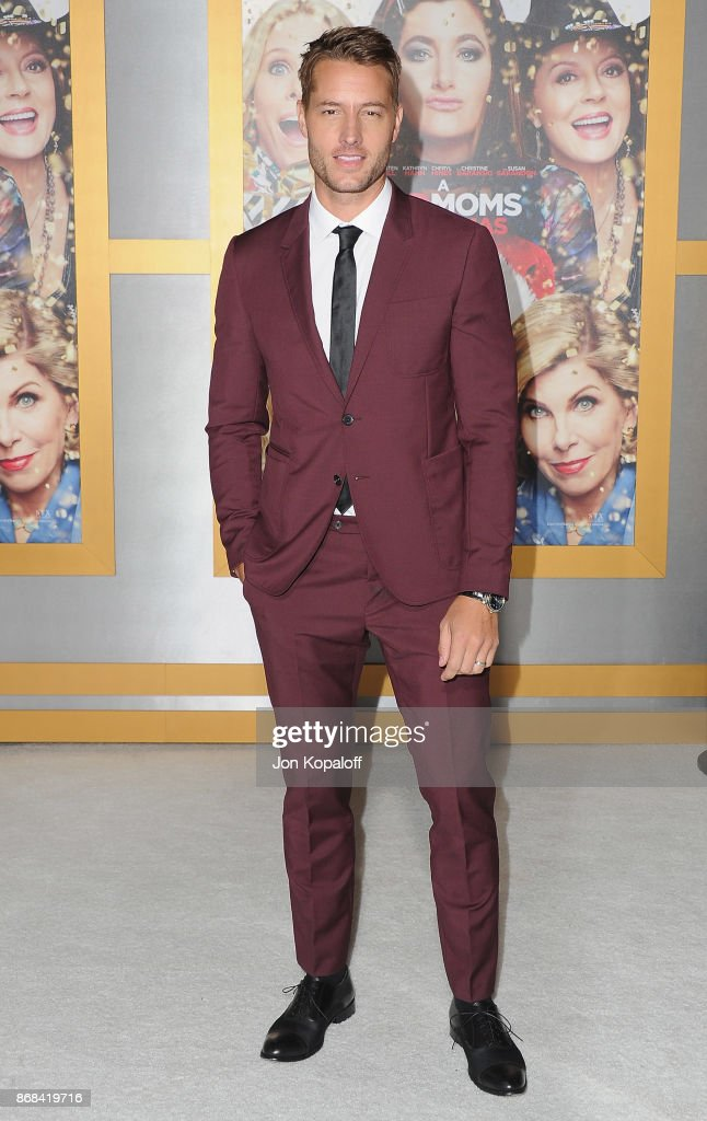 Actor Justin Hartley arrives at the Los Angeles Premiere of 'A Bad Moms Christmas' at Regency Village Theatre on October 30, 2017 in Westwood, California.
