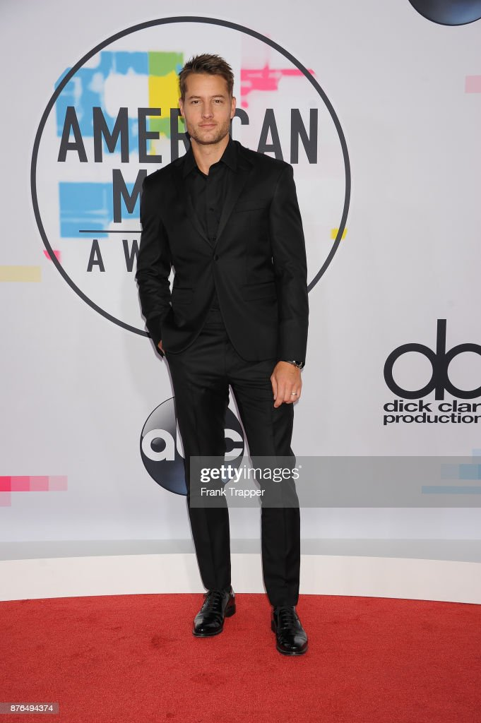 Actor Justin Hartley attend 2017 American Music Awards at Microsoft Theater on November 19, 2017 in Los Angeles, California.