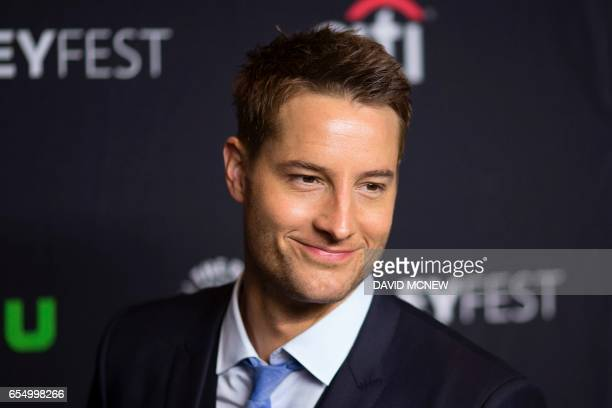 Actor Justin Hartley attends PaleyFest LA at the Dolby Theatre on March 18 2017 in the Hollywood section of Los Angeles California / AFP PHOTO /...