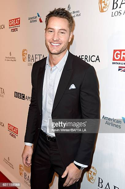 Actor Justin Hartley attends The BAFTA Tea Party at Four Seasons Hotel Los Angeles at Beverly Hills on January 7 2017 in Los Angeles California