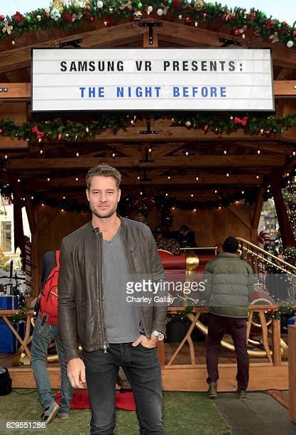 Actor Justin Hartley attends The Night Before A Samsung VR Experience at The Grove on December 13 2016 in Los Angeles California
