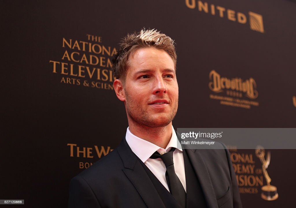 Actor Justin Hartley walks the red carpet at the 43rd Annual Daytime Emmy Awards at the Westin Bonaventure Hotel on May 1, 2016 in Los Angeles, California.
