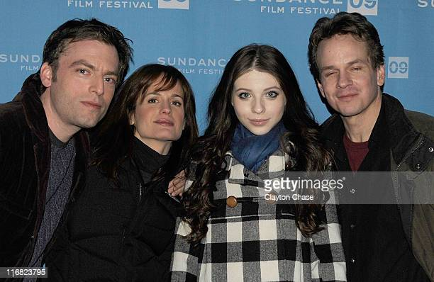 Actor Justin Kirk actress Elizabeth Reaser actress Michelle Trachtenberg and director Peter Callahan attend the premiere of 'Against the Current'...