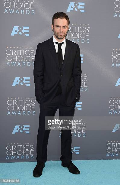 Actor Justin Kirk attends the 21st Annual Critics' Choice Awards at Barker Hangar on January 17 2016 in Santa Monica California