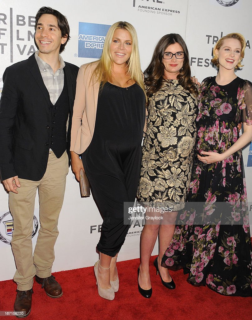 Actor Justin Long, Actress <a gi-track='captionPersonalityLinkClicked' href=/galleries/search?phrase=Busy+Philipps&family=editorial&specificpeople=216133 ng-click='$event.stopPropagation()'>Busy Philipps</a>, Director <a gi-track='captionPersonalityLinkClicked' href=/galleries/search?phrase=Kat+Coiro&family=editorial&specificpeople=7114260 ng-click='$event.stopPropagation()'>Kat Coiro</a> and Actress attend the 'A Case Of You' World Premiere - 2013 Tribeca Film Festival at BMCC Tribeca PAC on April 21, 2013 in New York City.