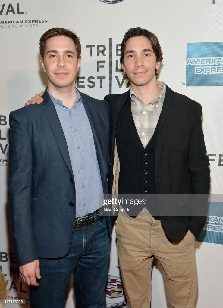 Actor Justin Long (R) and his brother Christian Long attend the 'A Case Of You' World Premiere during the 2013 Tribeca Film Festival on April 21, 2013 in New York City.