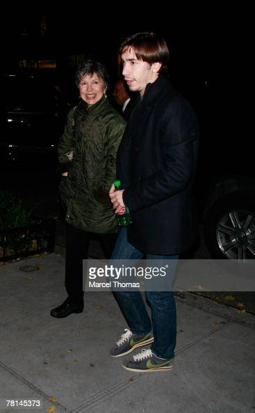 Actor Justin Long and mother...