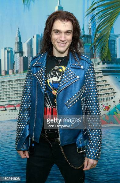 Actor Justin Matthew Sargent of Rock of Ages attend the Norwegian Warming Station launch in Times Square on January 28 2013 in New York City
