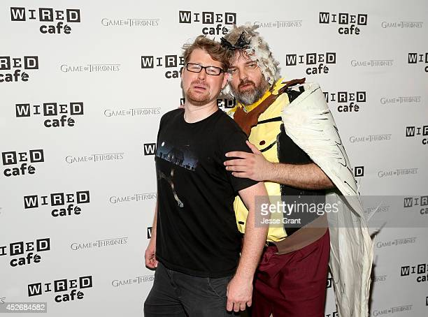 Actor Justin Roiland and writer Dan Harmon attend day 2 of the WIRED Cafe @ Comic Con at Omni Hotel on July 25 2014 in San Diego California