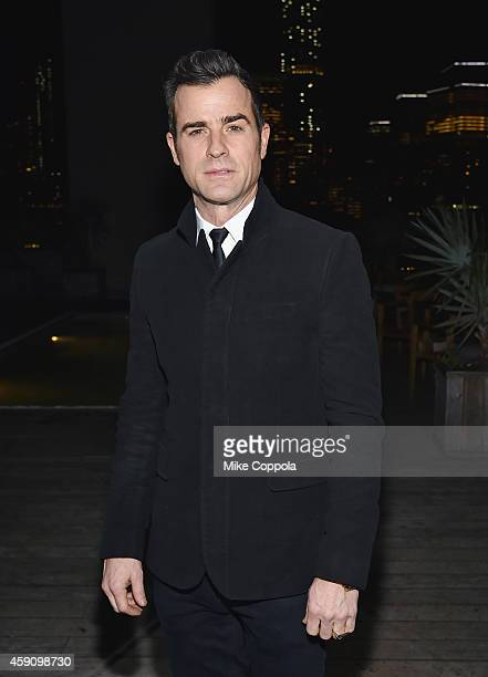 Actor Justin Theroux attends the after party for the'Cake' screening hosted by The Cinema Society Instyle at Jimmy At The James Hotel on November 16...