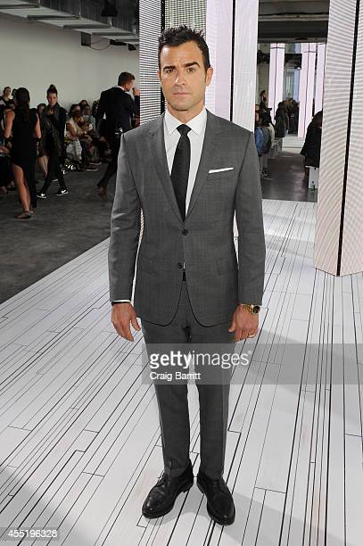 Actor Justin Theroux attends the Boss fashion show during MercedesBenz Fashion Week Spring 2015 on September 10 2014 in New York City