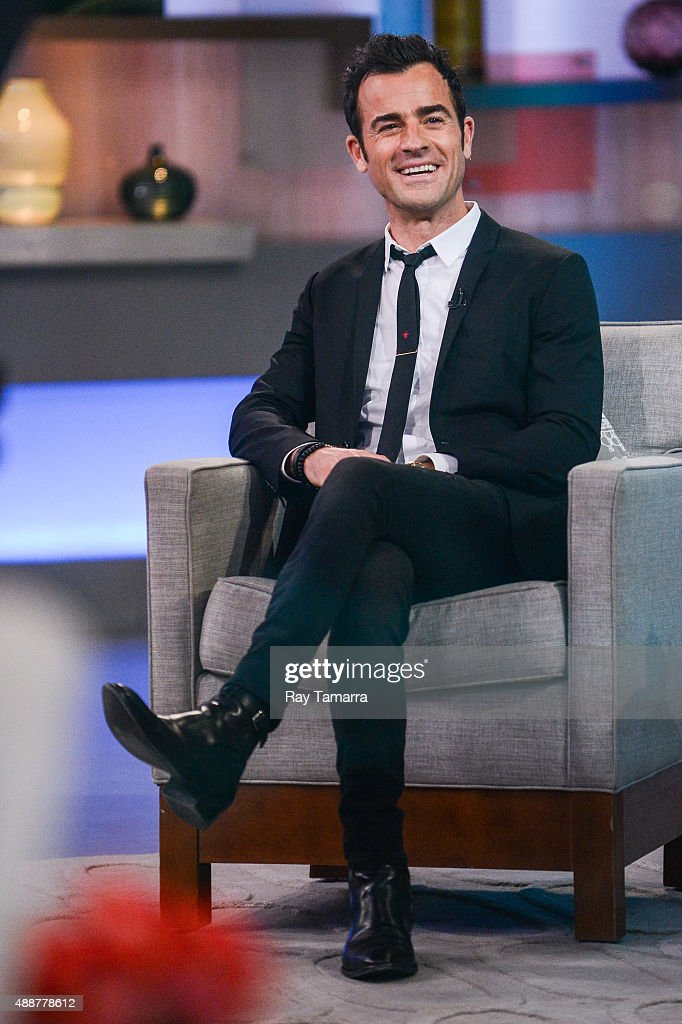 Actor Justin Theroux tapes an interview at 'Good Morning America' at the ABC Times Square Studios on September 17 2015 in New York City