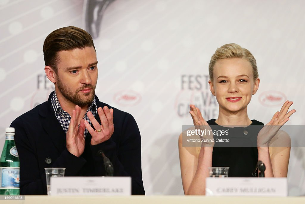 Actor <a gi-track='captionPersonalityLinkClicked' href=/galleries/search?phrase=Justin+Timberlake&family=editorial&specificpeople=157482 ng-click='$event.stopPropagation()'>Justin Timberlake</a> (L) and actress <a gi-track='captionPersonalityLinkClicked' href=/galleries/search?phrase=Carey+Mulligan&family=editorial&specificpeople=2262681 ng-click='$event.stopPropagation()'>Carey Mulligan</a> attend the 'Inside Llewyn Davis' Press Conference during The 66th Annual Cannes Film Festival at Palais des Festivals on May 19, 2013 in Cannes, France.
