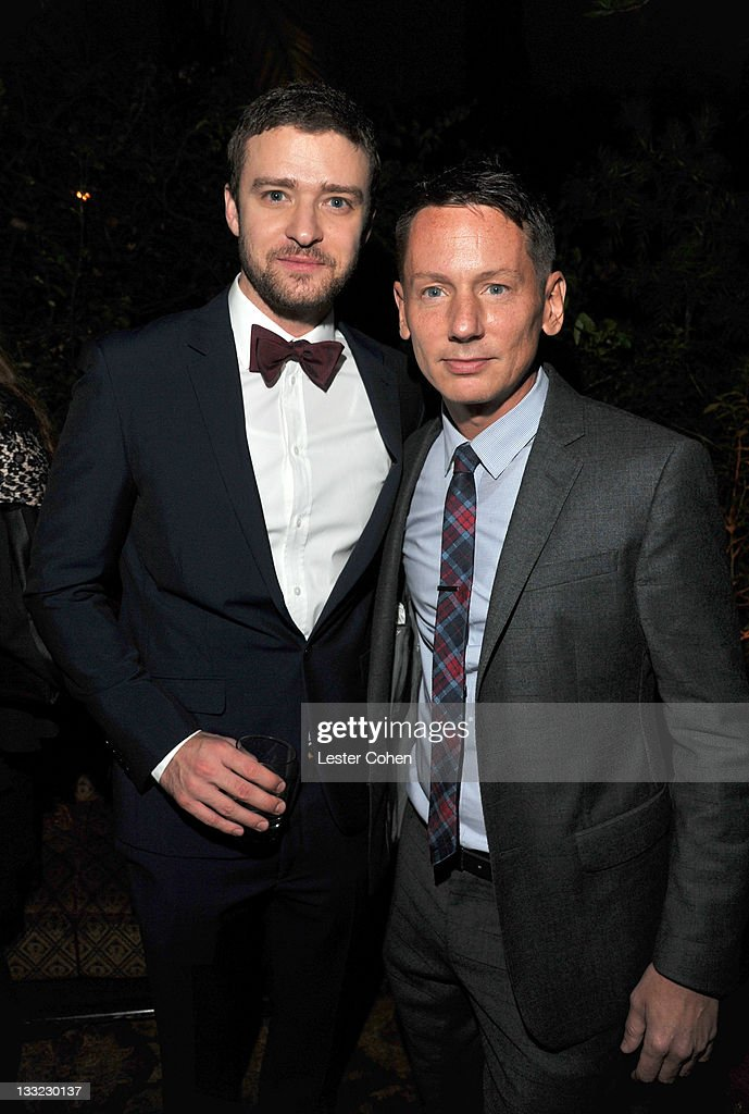 Actor Justin Timberlake and EditorInChief of GQ Magazine Jim Nelson attend GQ's 2011 'Men of the Year' Party held at Chateau Marmont on November 17...