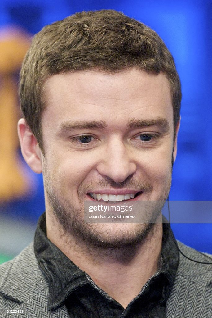 Actor <a gi-track='captionPersonalityLinkClicked' href=/galleries/search?phrase=Justin+Timberlake&family=editorial&specificpeople=157482 ng-click='$event.stopPropagation()'>Justin Timberlake</a> attends 'El Hormiguero' TV show at Vertice Studio on November 28, 2011 in Madrid, Spain.