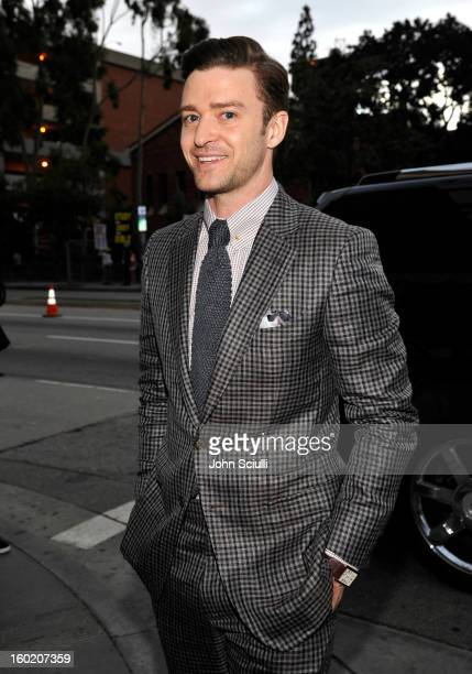 Actor Justin Timberlake attends the 19th Annual Screen Actors Guild Awards at The Shrine Auditorium on January 27 2013 in Los Angeles California...