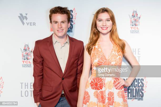 Actor Justin Tinucci and actress singersongwriter and model Serena Laurel attend the 20th Annual Dances With Films Premiere Of 'Devil's Whisper' at...