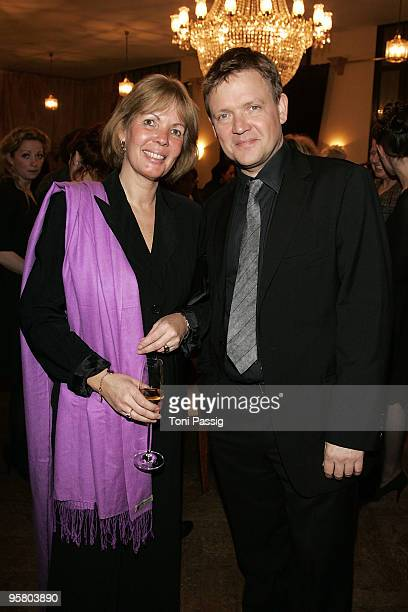 Actor Justus von Dohnanyi and sister attend the afterparty of the Bavarian Movie Award at Prinzregententheater on January 15 2010 in Munich Germany