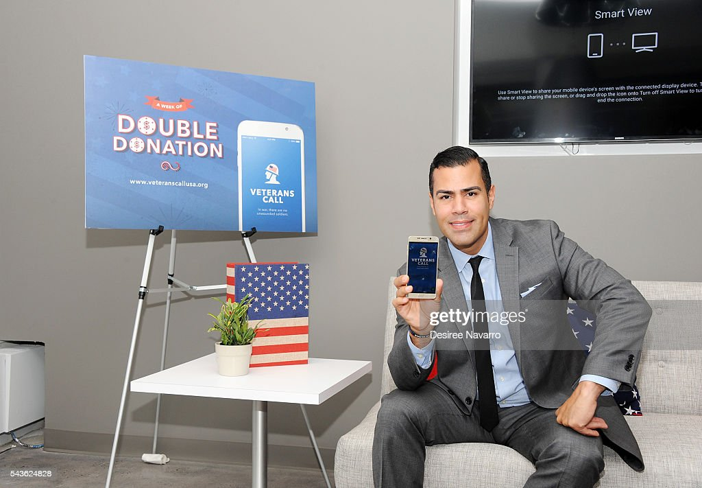 Actor J.W. Cortes and Veterans Call launch July 4th Donation Program for America's Vets and Troops on June 29, 2016 in New York City.