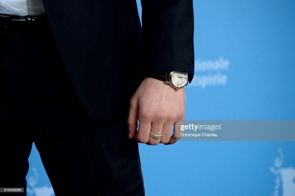 Actor Kacey Mottet Klein, watch detail, attends the 'Being 17' (Quand on a 17 ans) photo call during the 66th Berlinale International Film Festival Berlin at Grand Hyatt Hotel on February 14, 2016 in Berlin, Germany.