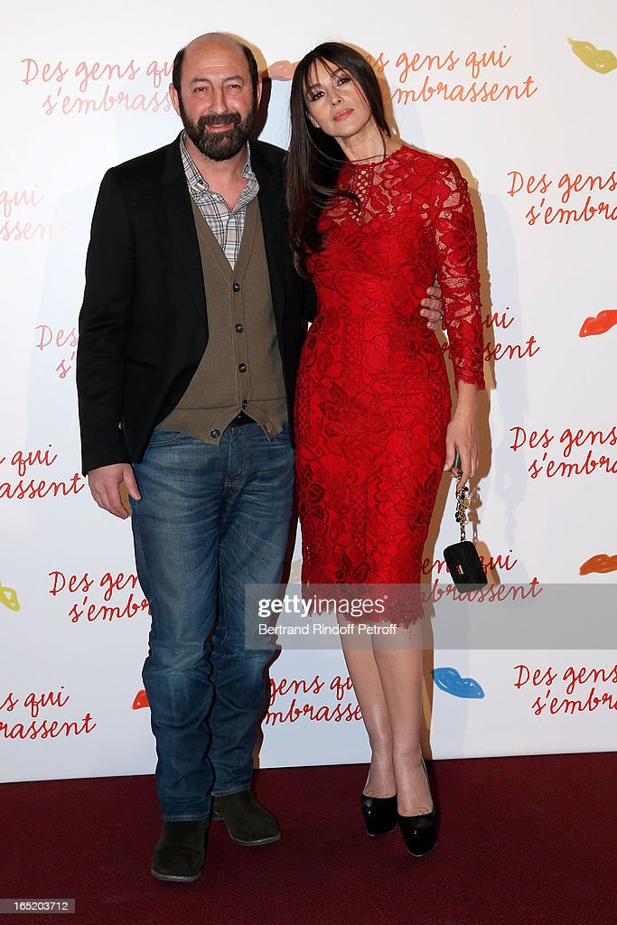 Actor Kad Merad and Actress Monica Bellucci attend 'Des gens qui s'embrassent' movie premiere at Cinema Gaumont Marignan on April 1, 2013 in Paris, France.
